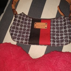 Kate Spade brown and red patterned purse